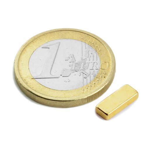 Image of   Blokmagnet guld 10x4x2 mm