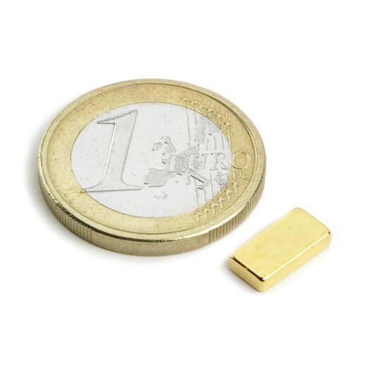 Image of   Blokmagnet guld 10x5x2 mm