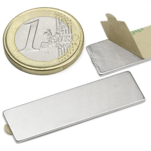 Image of   Blokmagnet m/lim 20 styk, 40x12x1 mm