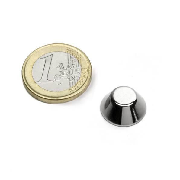 Image of   Keglemagnet Ø 15x8 mm, højde 6 mm