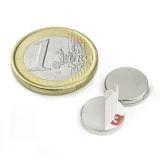 Disc magnet (self-adhesive), 12x2 mm