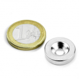 Screw-on disc magnet 18x4 mm