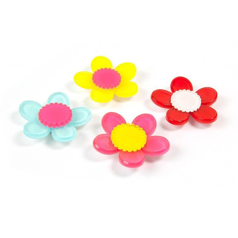 Billede af Magnetiske Floris blomster 4 styk