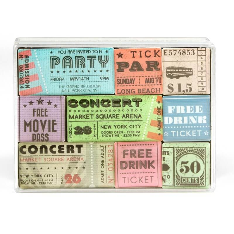 Image of   Magneter Tickets 9 styk