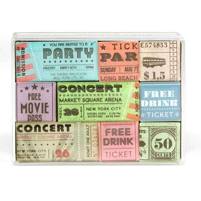 Billede af Magneter Tickets 9 styk