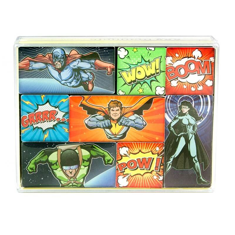 Image of   Magneter Superhelte Comics 8 styk