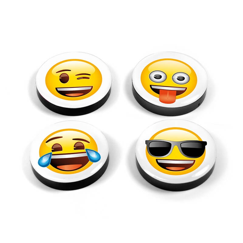 Image of   Magnetiske Emoji ansigter 4 styk