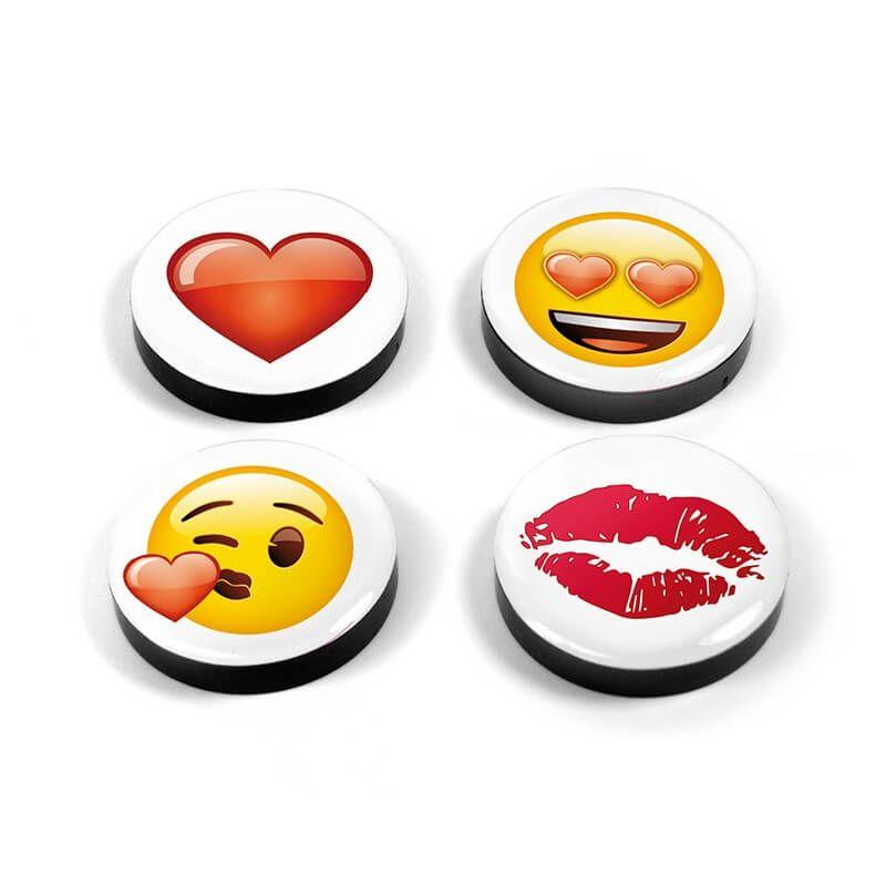 Image of   Magnetiske Kærligheds Emoji 4 styk