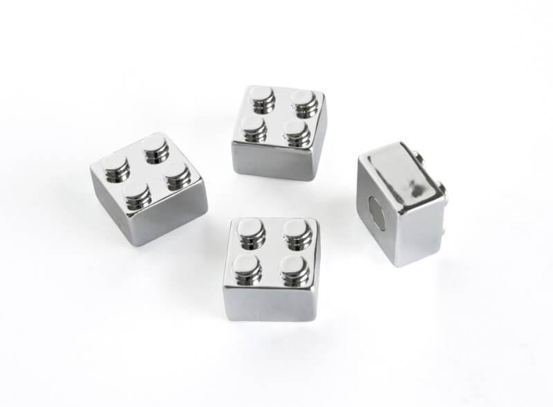 Billede af Sølvfarvede klodser 4 styk