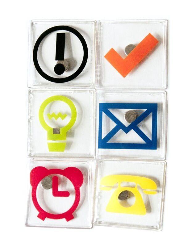 Billede af Magneter Kontorsymboler 6 styk