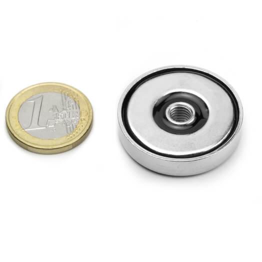 Pottemagnet med indvendigt gevind 32x7 mm