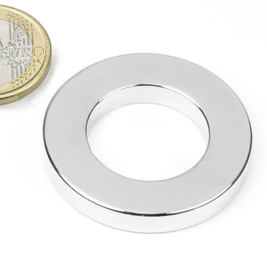 Ringmagnet Ø 40/23 mm, H6 mm