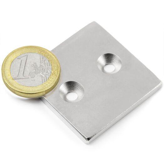 Image of   Blokmagnet til påskruning 40x40x4 mm