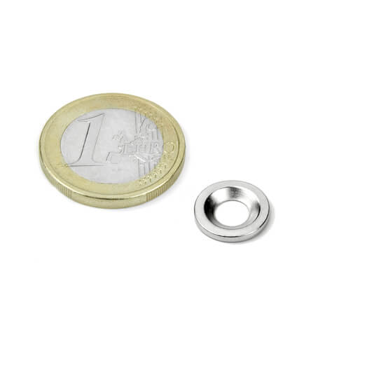 Undersænket metalskive 12 mm
