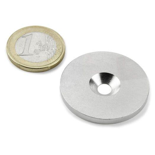 Undersænket metalskive 34 mm