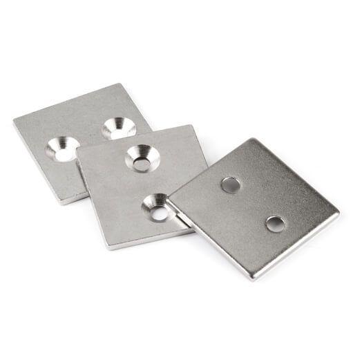 Undersænket metalbase 40x40x3 mm